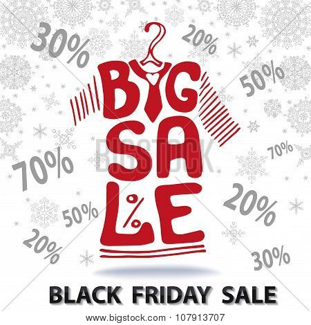 Big Sale lettering.Tee Shirt, Black friday
