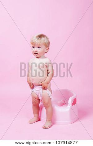Child on the pot