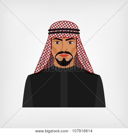 Arab Man In Traditional Clothes