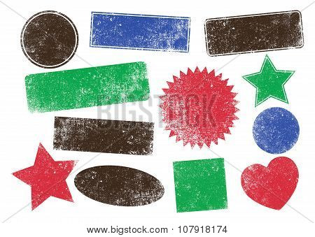 Stamps shapes