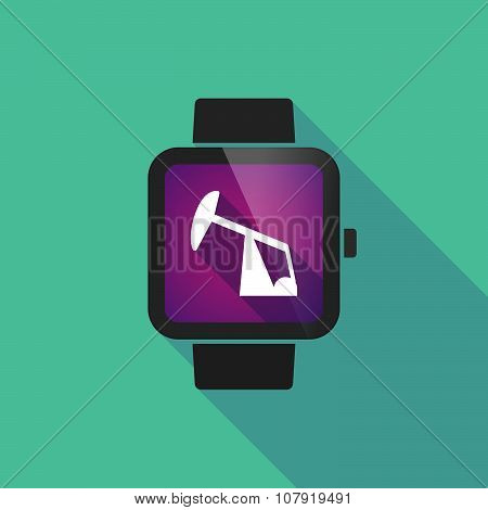 Smart Watch Vector Icon With A Horsehead Pump