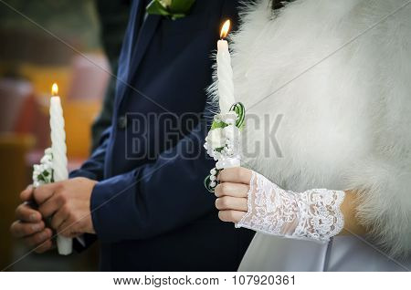 Two Wedding candles