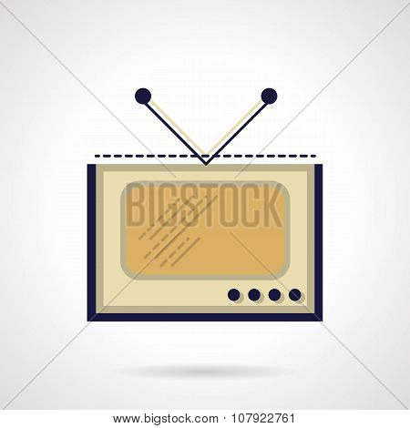TV flat color vector icon