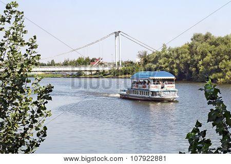 Pleasure Boat On The River Sura, Penza