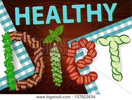 Diet Vegetables Healthy Wooden Texture 2