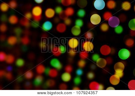Digitally generated Colourful circles on black background