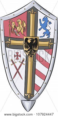 Vector. Shield With Coat Of Arms.