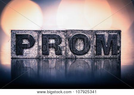 Prom Concept Vintage Letterpress Type