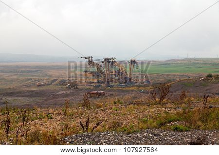 Coal mine and big excavator Most,Czech Republic