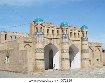 The gates of the old city of Khiva, Uzbekistan