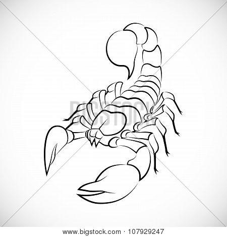 Abstract scorpion