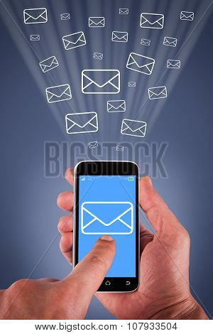 Email Sending on Smartphone Screen
