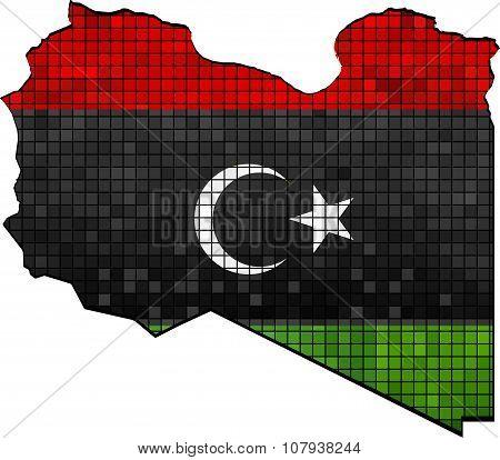 Libya Map With Flag Inside.eps