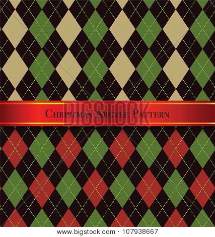 Christmas Argyle Pattern Design Set 5
