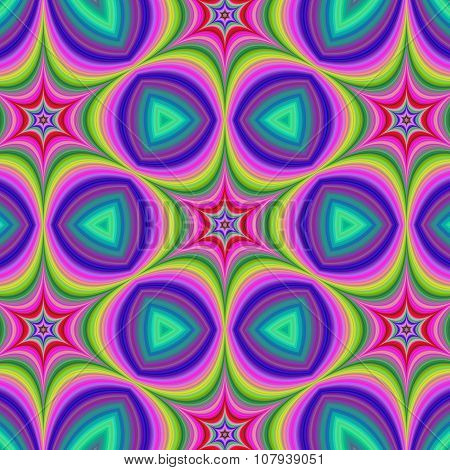 Colorful hexa star background