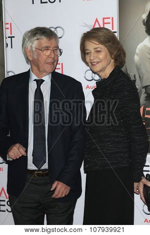LOS ANGELES - NOV 11:  Tom Courtenay, Charlotte Rampling at the  Screening of