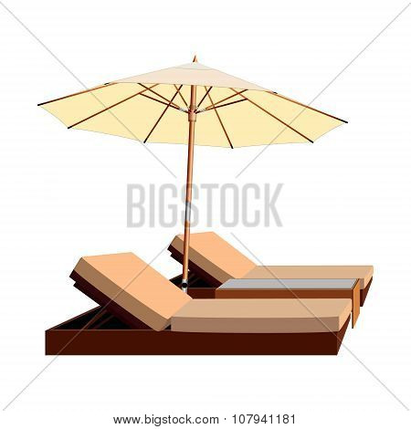 awning, umbrella, lounger, leisure, chaise