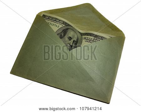 Currency in paper envelope