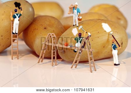 miniature Potato painters