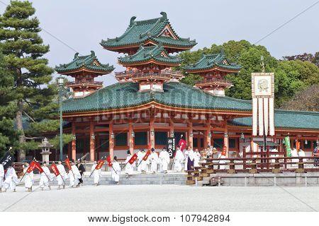 Annual autumn historic costume parade in Kyoto