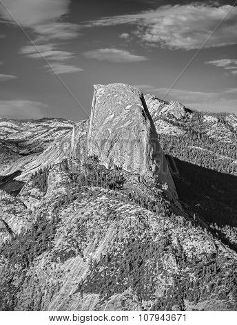 Half Dome, Famous Rock Climbers Destination, Yosemite National Park.