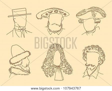 Men's Hats Of Different Times