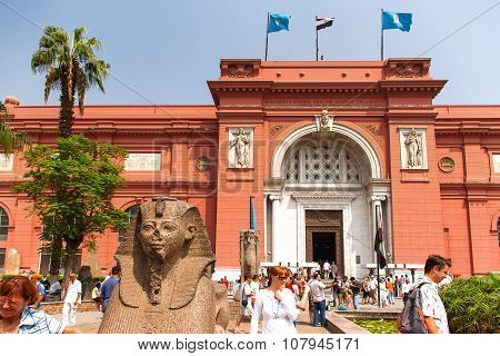 Cairo, Egypt - September 11, 2008: The Egyptian Museum In Cairo