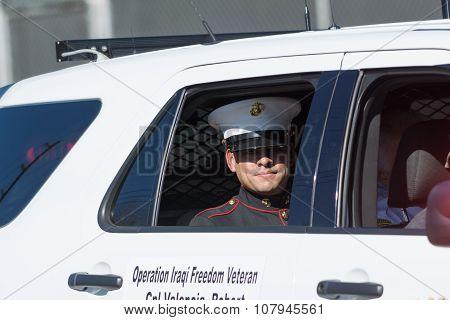 Marine On The Car