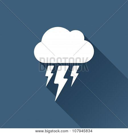 Vector flash icon. Epswhite0