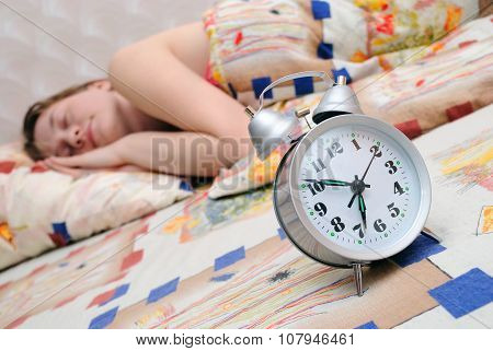 Alarm Clock About Sleeping The Girl