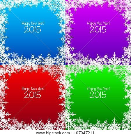 Set of Christmas snowflake backgrounds