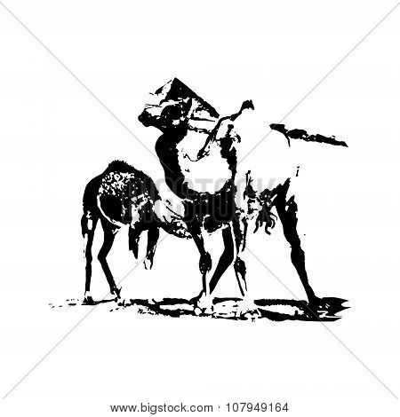 Camels In The Desert (graphics)