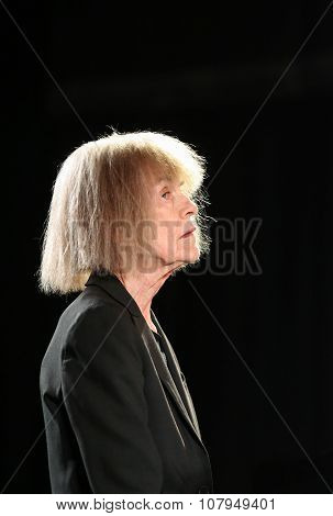 CRACOW POLAND - NOVEMBER 3 2015: Carla Bley Trios playing live music at The Cracow Jazz All Souls Day Festival in Cracow. Poland