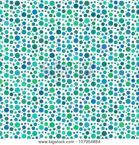 Green Dotted And Circular Seamless Pattern