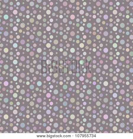 Violet Dotted And Circular Seamless Pattern