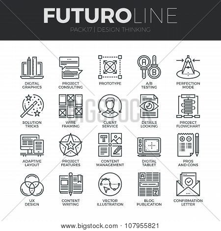 Design Thinking Futuro Line Icons Set