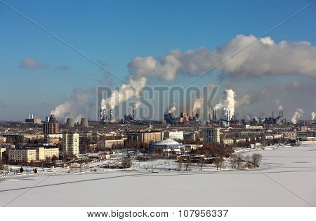 NIZHNY TAGIL, SVERDLOVSK REGION, RUSSIA-NOVEMBER 09, 2015: Photo of View of Nizhny Tagil.