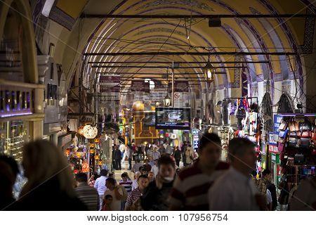 The Grand Bazaar Interior In Istanbul