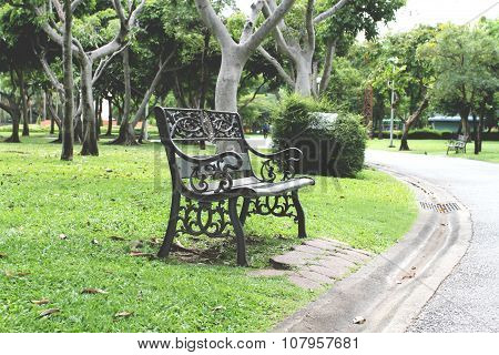 Empty Chairs In The Garden