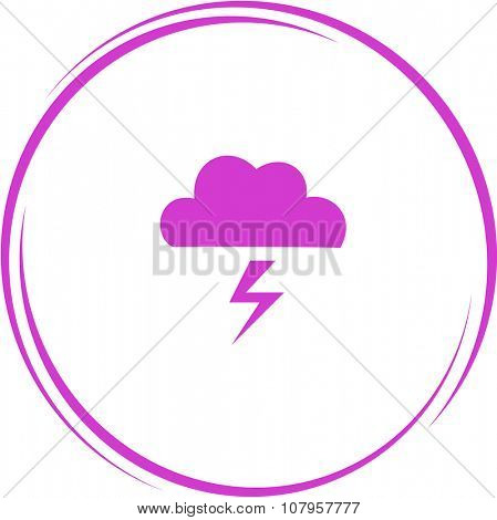thunderstorm. Internet button. Vector icon.