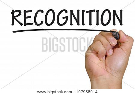 Hand Writing Recognition Over Plain White Background