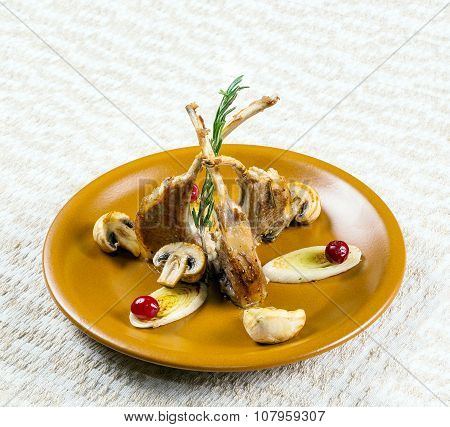 Dish Of Mutton Ribs