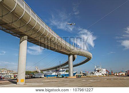 The Bridge Over The Harbor Of Pescara, Abruzzo, Italy