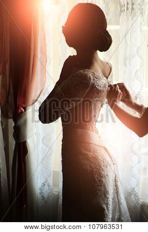 Bride Wearing Dress