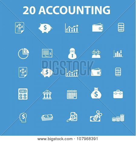 accounting, finance  icons, signs vector concept set for infographics, mobile, website, application