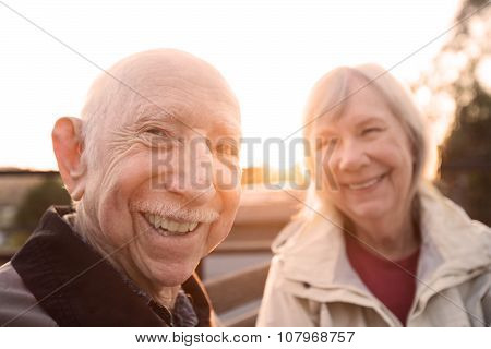 Couple Joking Together