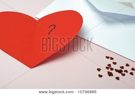 Red Valentines Heart Card