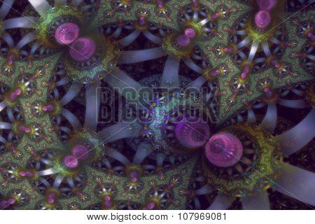 Fractal blooms in soft pastel colors