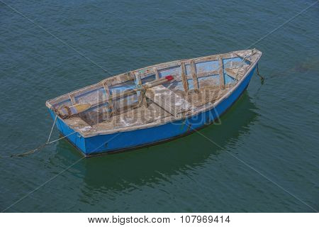 Bright Blue Rowboat