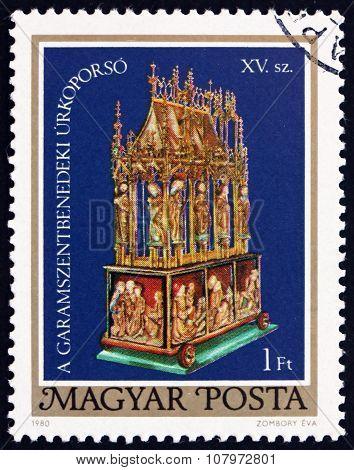 Postage Stamp Hungary 1980 Easter Casket